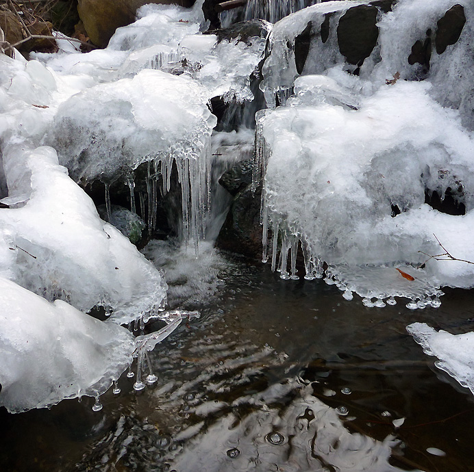 Icicles in a brook