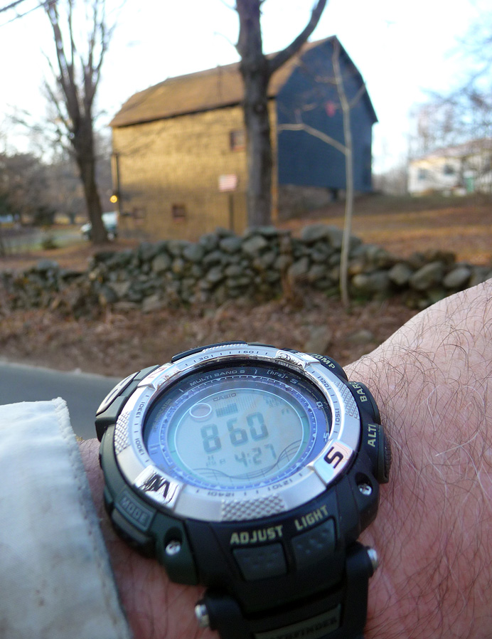 Wristwatch and barn