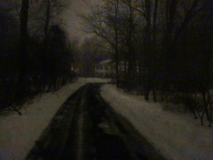 Driveway at dark
