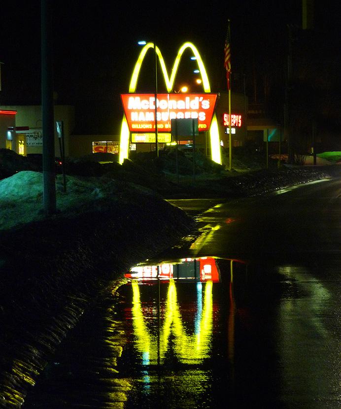McDonald's restaurant at night