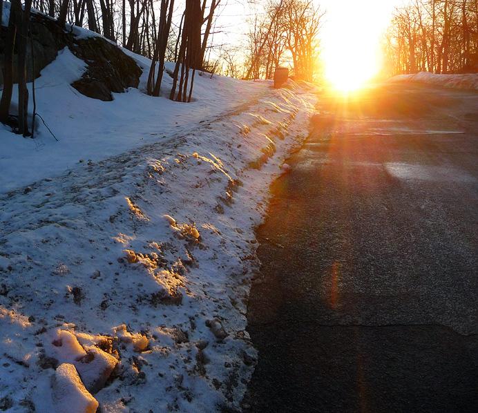Sunset on Kilian Drive