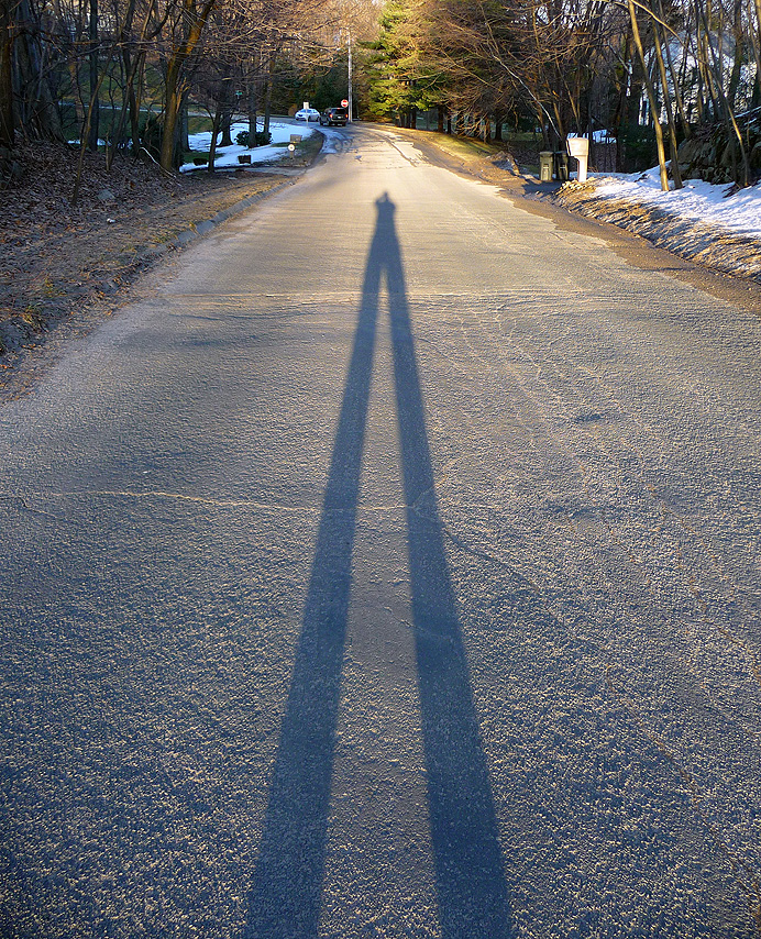 Person's shadow