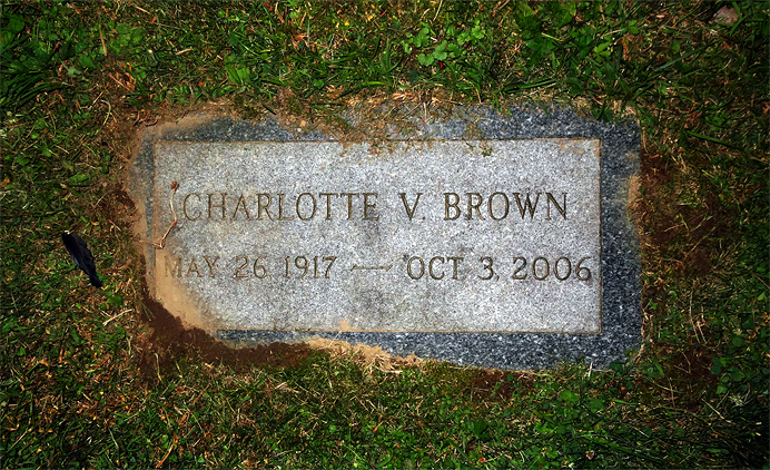 Charlotte Brown headstone
