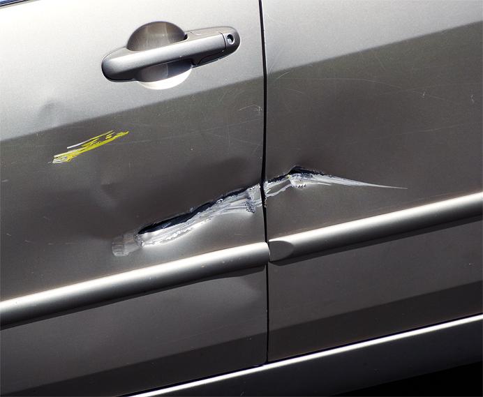 Car door damage