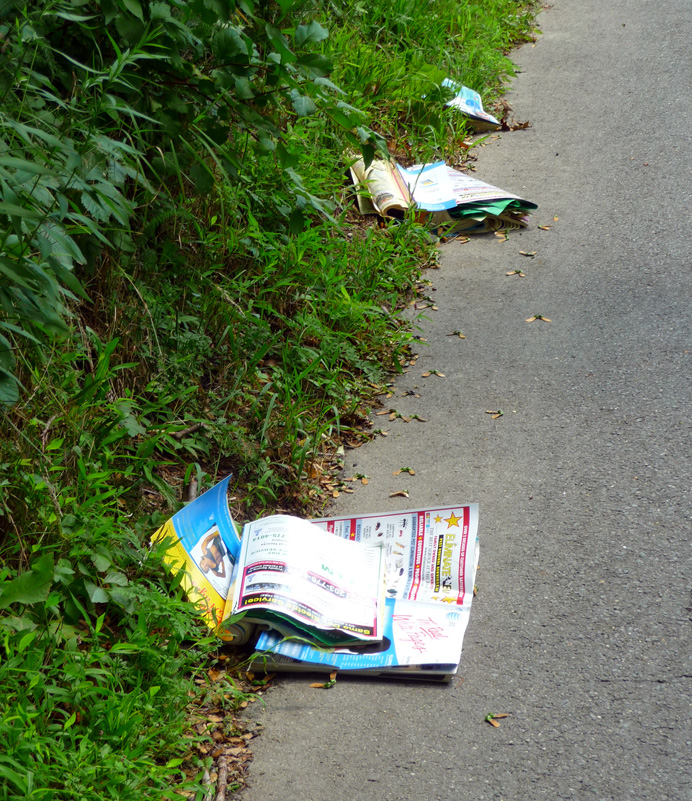 Discarded phonebooks