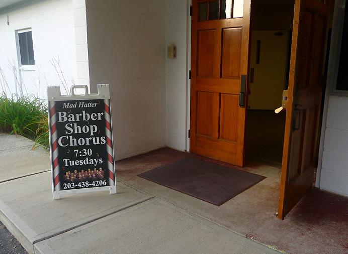 Barbershop chorus sign