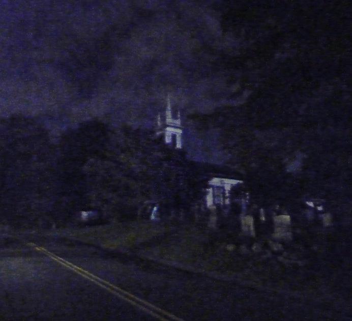 Church by moonlight
