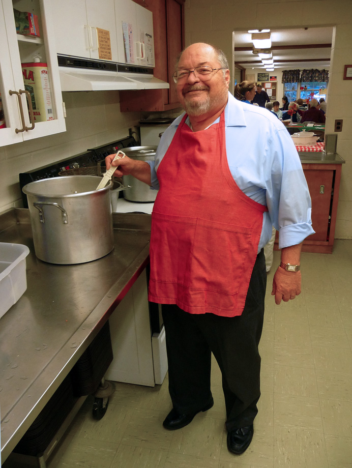 Church supper chef