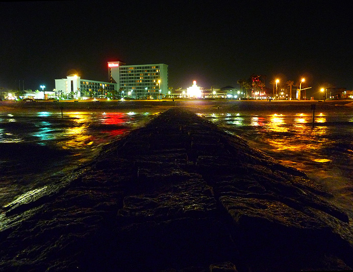 Jetty at night
