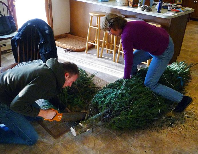 Christmas tree work